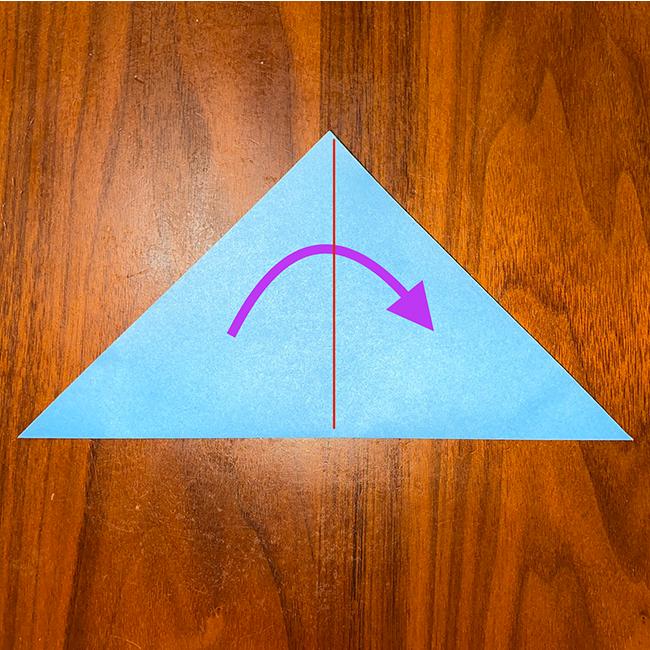 もう1度三角に折る