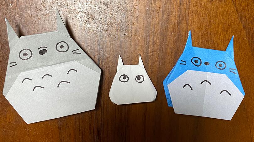 ジブリ人気キャラクター折り紙で作るかわいい小トトロの折り方☆