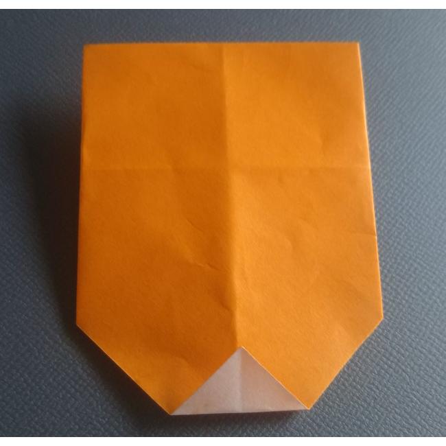 図のように1㎝ほど上に折ります。