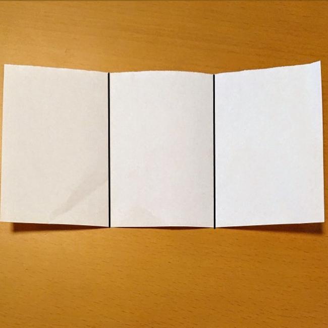 3等分になるように折り目をつけます。