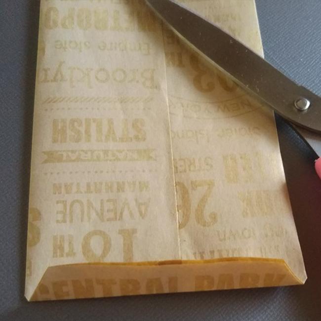 手順4と同じで、角を少し切り落とします。