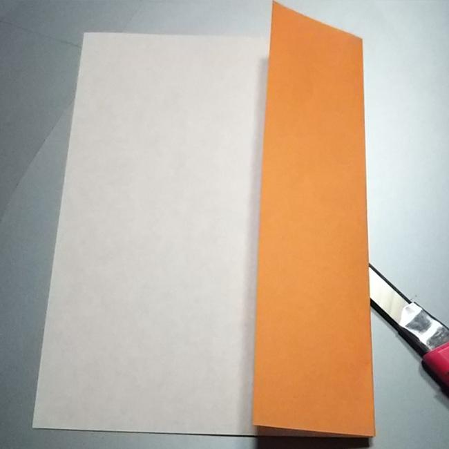 図のように長方形になるよう 少し切っておきます。